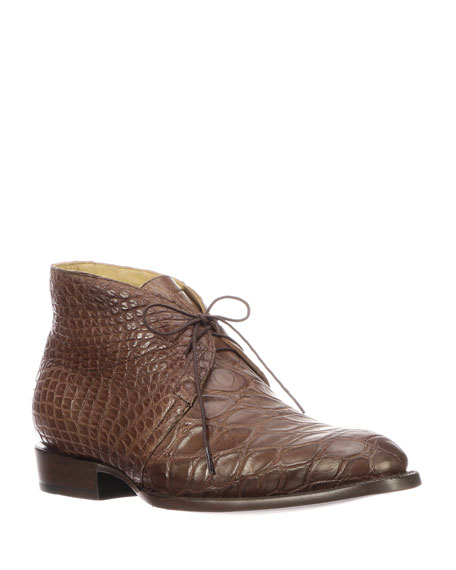 Lucchese Men's Evan Gator Chukka Boots