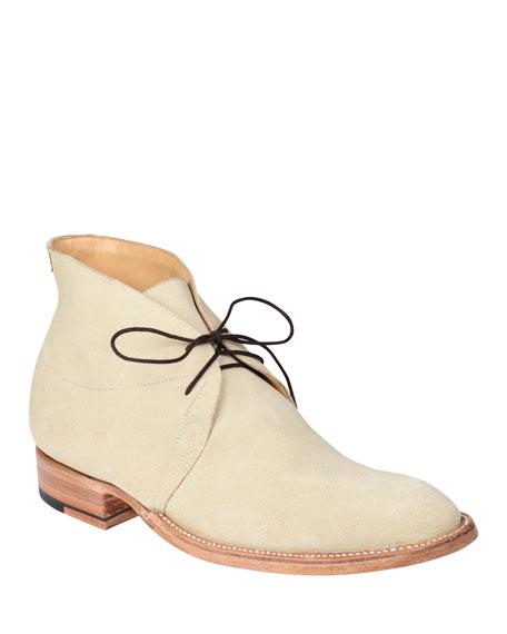 Lucchese Men's Evan Buck Suede Chukka Boots