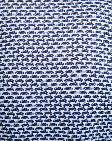 Peter Millar Men's Motorcycle-Print Polo Shirt
