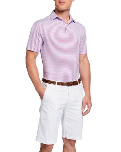 Men's Striped Performance Polo Shirt