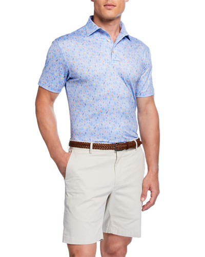 Men's Margarita Print Polo Shirt