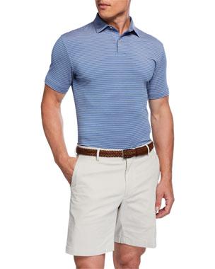 1ca5e1f336 Peter Millar Men's Tour Fit Coltrane Stripe Stretch Jersey Polo Shirt