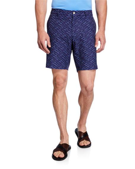 Peter Millar Men's Carrboro Car Motif Shorts
