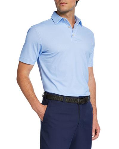 Men's Printed Pine-Dot Polo Shirt