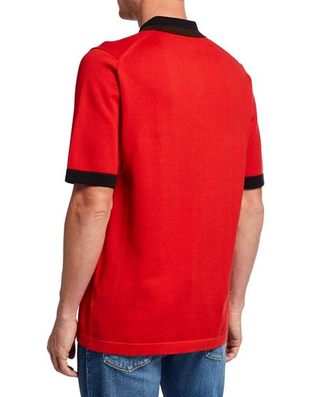 Burberry Men's Camford Polo Shirt, Bright Red