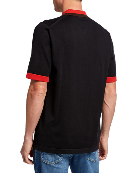 Burberry Men's Camford Polo Shirt, Black