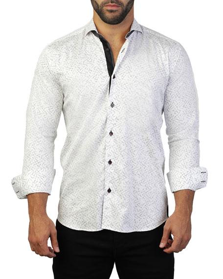 Maceoo Men's Einstein Line Graphic Sport Shirt