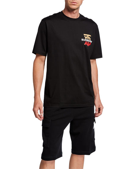 Burberry Men's Gately Logo Graphic Cotton T-Shirt, Black