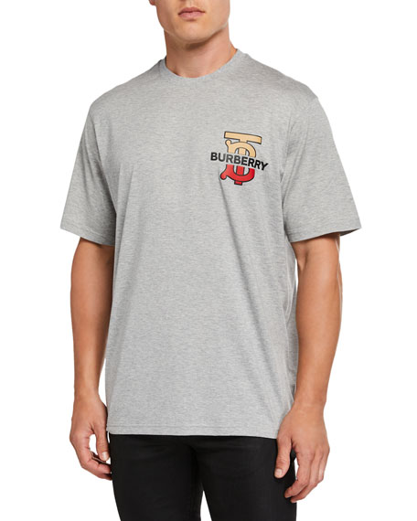 Burberry Men's Gately Logo Graphic T-Shirt, Gray