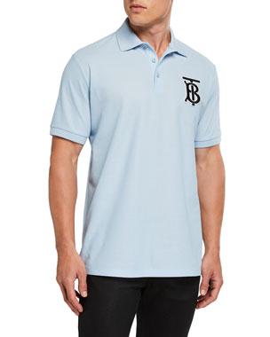 b67ce887 Burberry Men's Warren TB Logo Polo Shirt