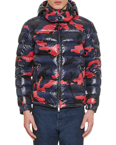 Valentino Men's Camo Quilted Puffer Jacket