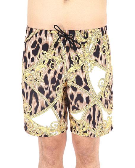 Versace Men's Mare Uomo Graphic Shorts