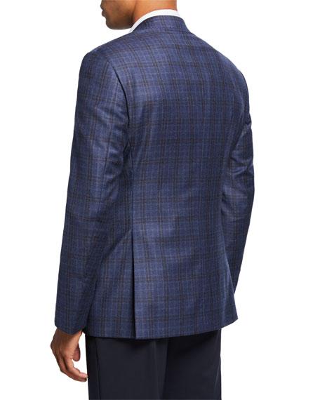 Giorgio Armani Men's Two-Tone Windowpane Plaid Two-Button Jacket