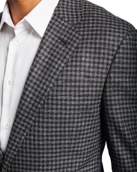 Giorgio Armani Men's Check Wool Two-Button Sport Coat