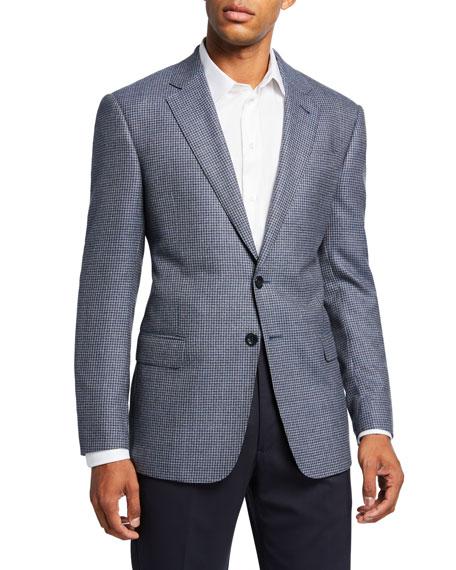 Giorgio Armani Men's Mini-Check Wool Two-Button Sport Coat, Blue