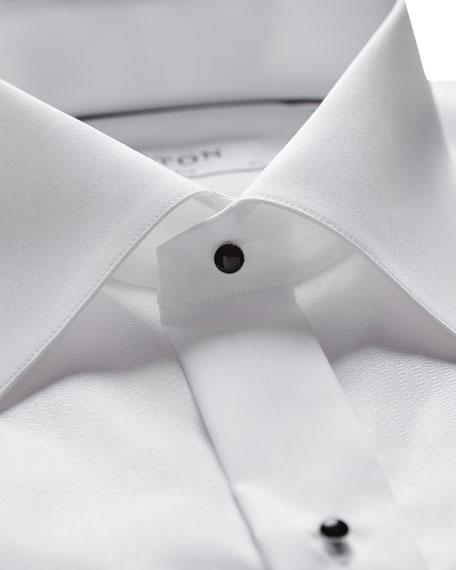 Eton Men's Formal Textured Bib Dress Shirt