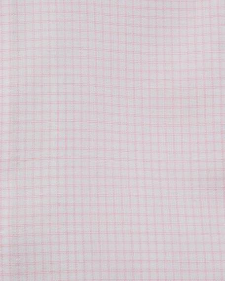 Eton Men's Contemporary Fit Grid-Check Dress Shirt