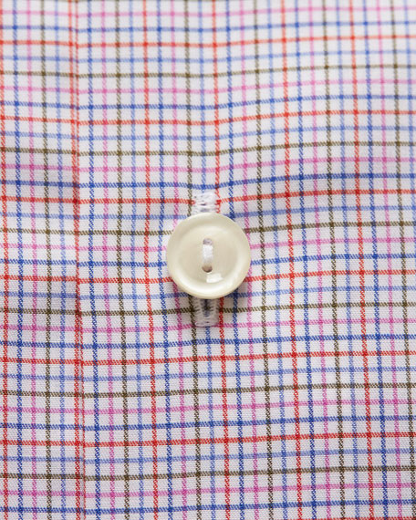 Image 3 of 3: Men's Contemporary-Fit Tattersall Check Dress Shirt