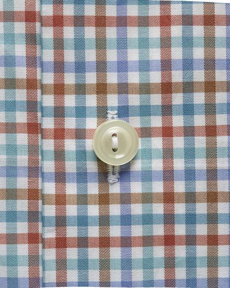 Eton Men's Multi-Check Cotton Dress Shirt