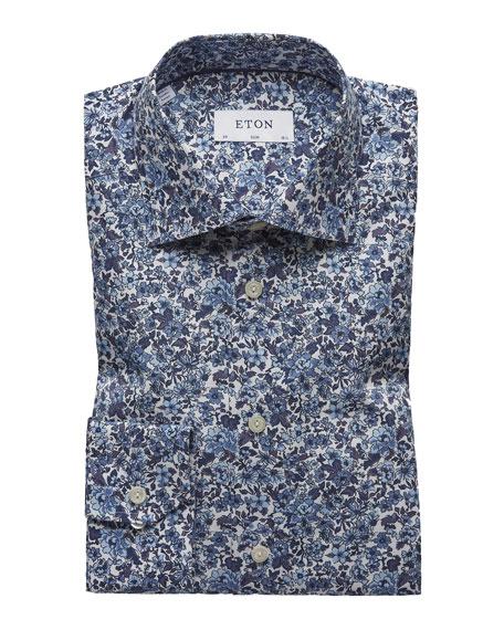 Eton Men's Floral Cotton Dress Shirt