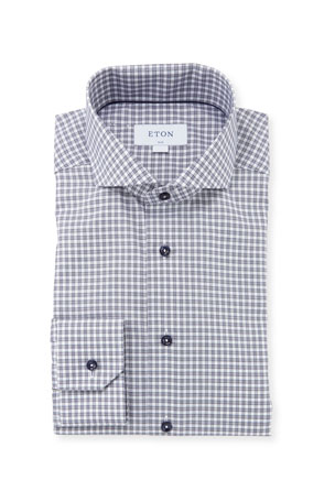 Eton Men's Slim-Fit Gingham Check Dress Shirt