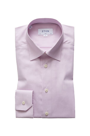Eton Men's Solid Twill Dress Shirt