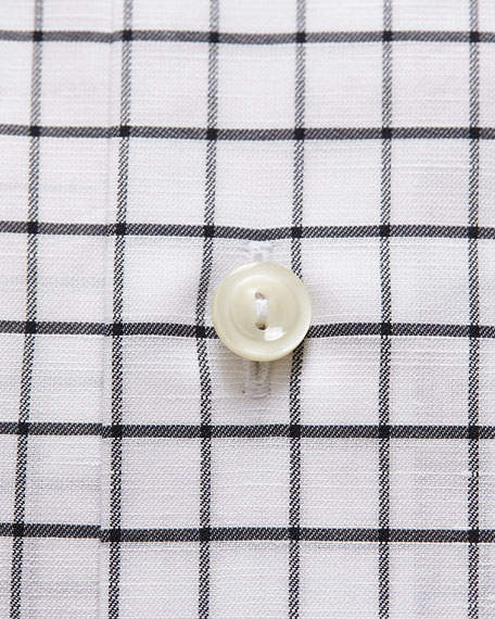 Eton Men's Windowpane Check Dress Shirt