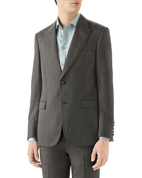 Gucci Men's Wool Pindot Sport Jacket