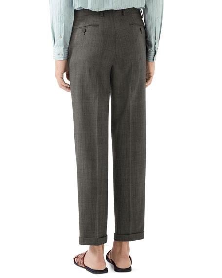 Gucci Men's Wool Pindot Trousers