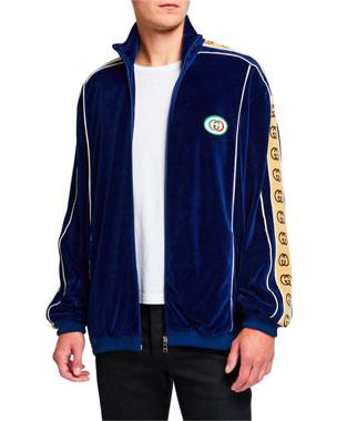 78ed106fa Gucci Men's GG Stripe Chenille Track Jacket