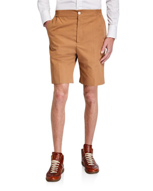 b565d53c7f Gucci Men's Heavy Cotton Poplin Plaid Shorts