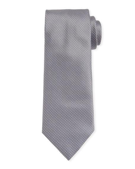 Canali Men's Micro-Dot Silk Tie, Gray