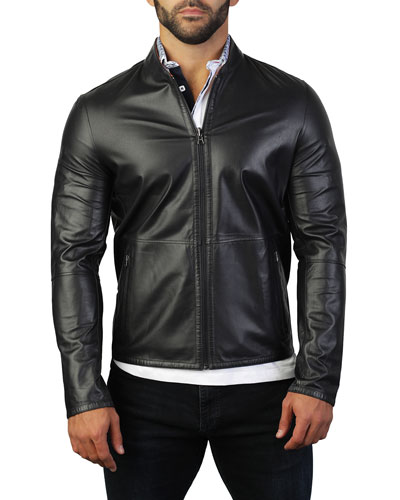Men's Reversible Leather Jacket