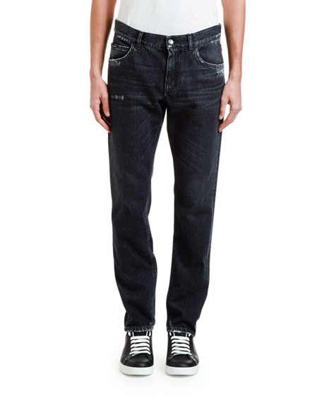 Dolce & Gabbana Men's Straight-Leg Distressed Jeans