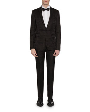 6f022b64f2e Berluti Men's Tonal Scritto Jacquard One-Button Jacket