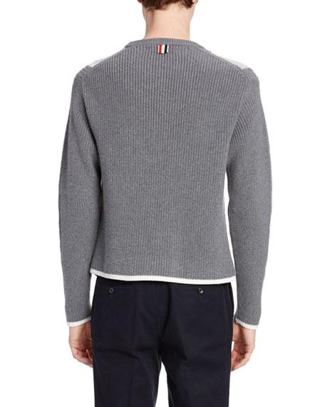 Thom Browne Men's Striped Merino Sweater