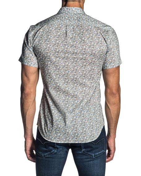 Jared Lang Men's Short-Sleeve Floral-Print Sport Shirt