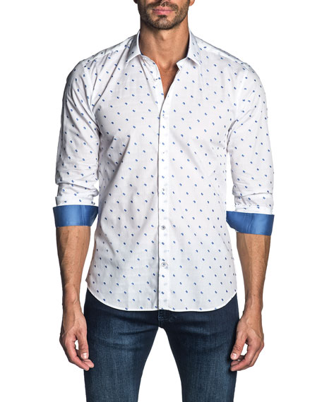 Jared Lang Men's Embroidered Sport Shirt