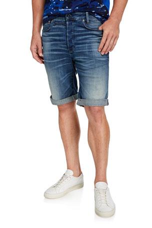 G-Star Men's D Staq 12 Oversized-Pocket Denim Shorts