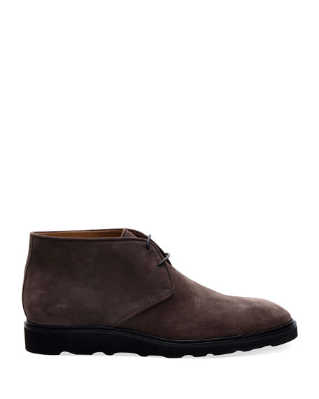 Paul Stuart Men's Lugano Suede Chukka Boots