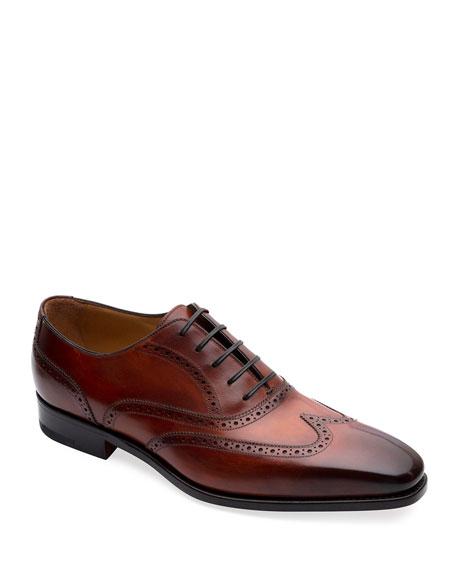 Paul Stuart Men's Gallia Wing-Tip Oxford Shoes