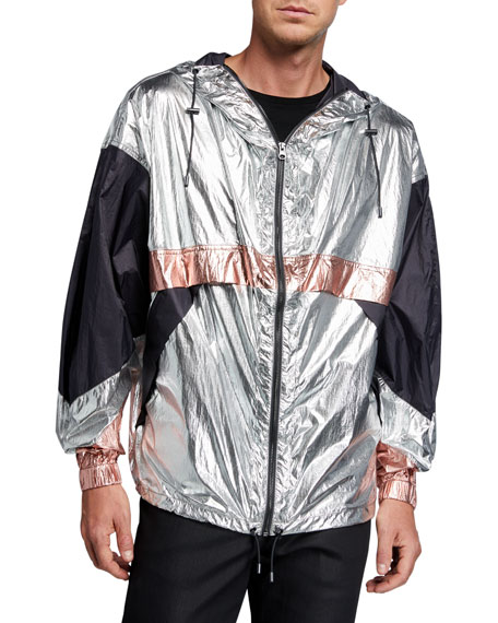 Isabel Marant Men's Tricolor Metallic Wind Jacket