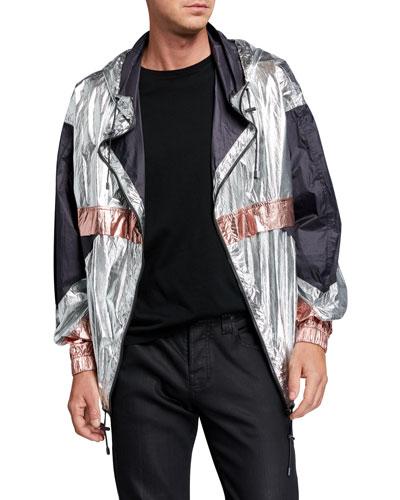 Men's Tricolor Metallic Wind Jacket