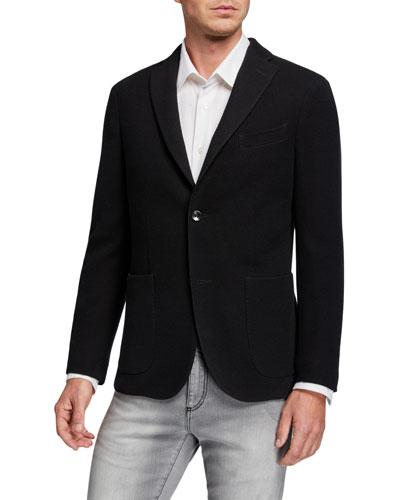 Men's Jersey Knit Sport Jacket