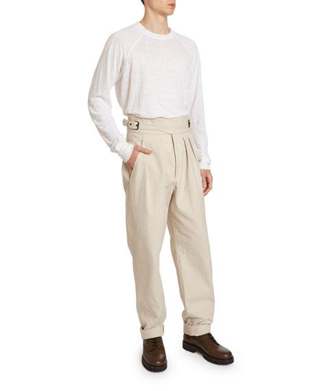 Isabel Marant Men's Geny Pleated-Front Cummerbund Pants