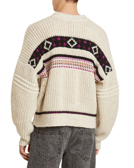 Isabel Marant Men's Cooper Western Patterned Sweater