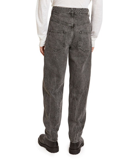 Isabel Marant Men's Larson Faded Relaxed Jeans