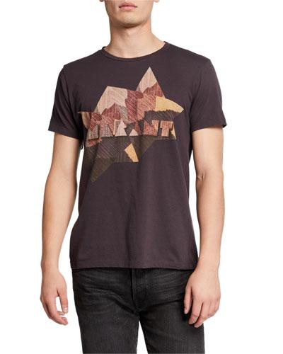 Men's Zao Western Plaid Logo T-Shirt