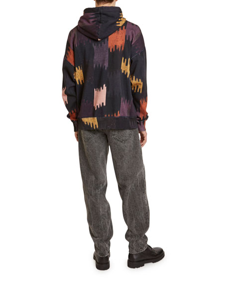 Isabel Marant Men's Viley Ikat Pullover Hoodie