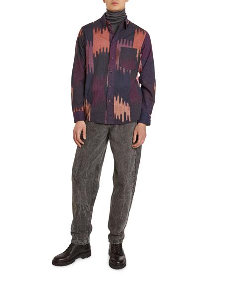 Isabel Marant Men's Ilako Ikat-Print Sport Shirt